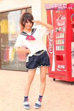 Sweet Schoolgirl Sailor Outfit
