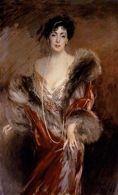 Giovanni Boldini - Portrait of Mrs Josefina de Alvear de de Errazuriz. an Argentine socialite