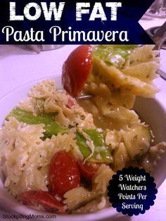 Low Fat Pasta Primavera