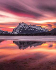 Vermilion Lakes (Alberta) by Mark Jinks   Canada (@markjinksphoto) on Instagram