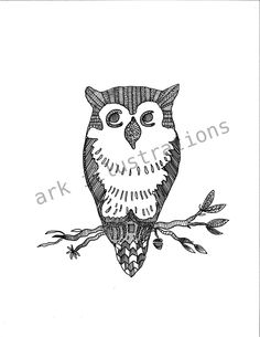 Owl. $20.00, via Etsy.