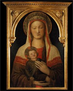 Jacopo Bellini, Madonna and Child, 1450,  this is just beautiful!!  Our Lady Mary and Jesus our Savior!!~!