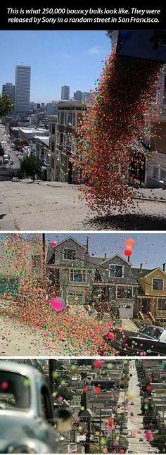 What 250,000 bouncy balls look like…