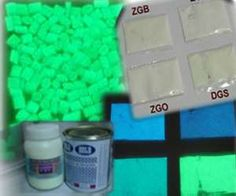 various glow in the dark resins and powders for crafting