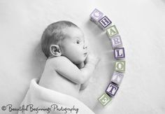 Name in Letter Blocks (Beautiful Beginnings Photography)