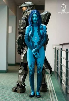 Master Chief and Cortana from Halo