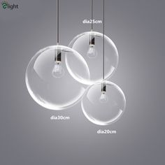 nordic simple orb clear glass pendant lighting. nordic simple 1 head dia202530cm chrome e27 pendant light dining room bubble glass ballclear orb clear lighting