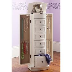 Chelsea Jewlery Armoire from PB Teen! I need the storage for my jewlery to open up more room in my walk in closet! Jewelry Cabinet, Jewelry Armoire, Jewelry Box, Jewelry Stand, Jewelry Holder, Jewelry Case, Chelsea, Side Tables Bedroom, Bedroom Dressers