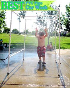 PVC pipe kids sprinkler tutorial!