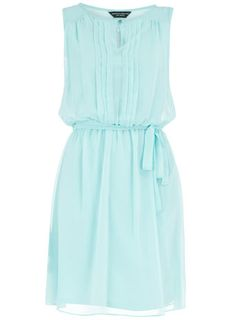 mint button front dress