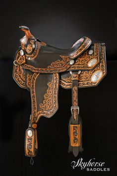 Trick Horse Show Saddle by Skyhorse Saddles