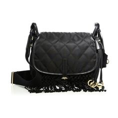 301b79ba0bcdfc Prada Fringed Nylon & Leather Corsaire Messenger Bag (€1.990) ❤ liked on  Polyvore featuring bags, messenger bags, black, shoulder bags, nylon  shoulder bag, ...