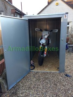 Motorcycle storage shed 5ft 6″ tall