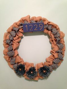 Burlap personalized wreath