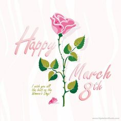 8 March Happy Womens Day 2014 Greeting Cards and Symbols_3