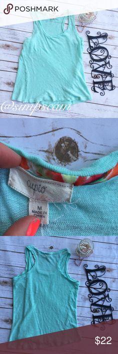 "CLEARANCE Cupio knit Tank EUC!! No flaws. 17.5"" wide. 20"" long. Cupio Tops Tank Tops"