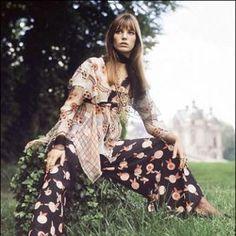 Jane wearing Ossie Clark