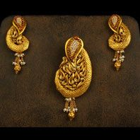Gold antique pendant from karpagam jewellers pinterest pendant antique finish pendant aloadofball Images