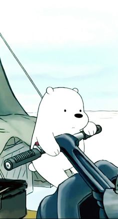 "who else loves ice bear? I don't literally watch we bare bears but I like his character. A guyfriend of mine calls me ""ice bear"" since he says I'm so like him. Its been going on for a year now"