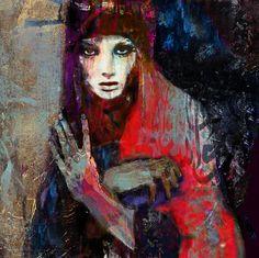 "Saatchi Online Artist: Suhair Sibai; Paint, 2012, Mixed Media ""Damascus Queen #3"""