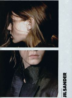 Angela Lindvall by David Sims for Jil Sander Spring 1998 ad campaign.