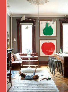 pop color fruit art in the kitchen via martha stewartjpg