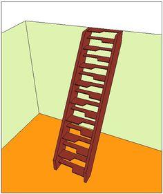 Calcul d'un escalier à pas décalés                                                                                                                                                                                 Plus