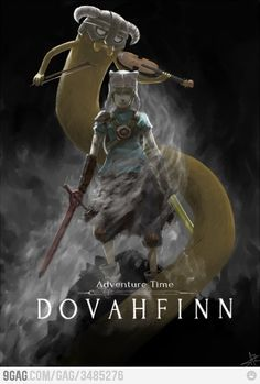 Two of my favorite things, Adventure Time & Skyrim. It's beautiful ;w;