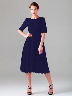 Elbow Sleeve Lace Dress | Plus and Petite sizes available! Hundreds of styles, tons of colors!