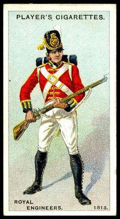 1813  Royal Engineers, British.  Cigarette Card.  suzilove.com
