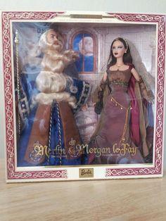 Merlin the Magician & Morgan LeFay the Enchantress Barbie & Ken Doll NRFB