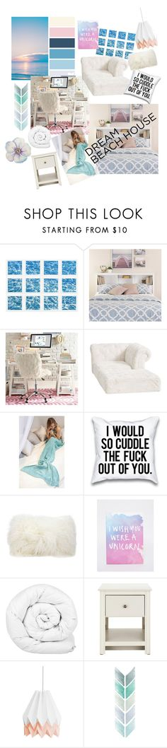 """""""DBH"""" by pokeygirlllll ❤ liked on Polyvore featuring interior, interiors, interior design, home, home decor, interior decorating, William Stafford, PBteen, Mina Victory and Ohh Deer"""