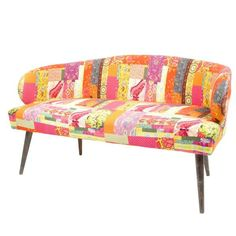 2 Seater Sofa Made From Cotton Digital Printed Fabric