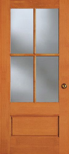 Exterior Solid Douglas Fir Dual Pane 10 Lite French Door 3 4 Insulated Clear Glass Tdl 7010
