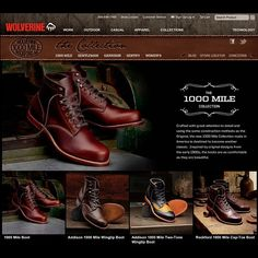 Wolverine 1000 mile boots. With 125 years in the making, Wolverine continue to h