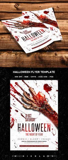 Halloween Flyer Tempalte #design Download: http://graphicriver.net/item/halloween-flyer/12923124?ref=ksioks