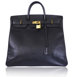ee2df98d16 Authentic Hermes black ardennes leather Hac birkin 45. Very large birkin  fom 1996. This