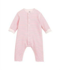Baby long all-in-one in reversible double jersey