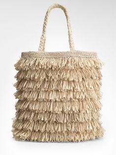 Raffia tote from Tory Burch. by cristina Summer Handbags, Summer Bags, Tote Handbags, Purses And Handbags, Spring Summer, Summer Diy, Crochet Handbags, Crochet Bags, Tory Burch