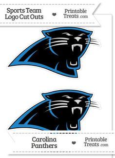 Medium Carolina Panthers Logo Cut Outs from PrintableTreats.com