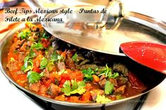 Bistec a la mexicana recipe. A very popular way to cook beef in Mexico. Delicious and easy to prepare. Mexican Carne Guisada, Carne a la Mexicana, Beef tips mexican Style, easy beef recipe. Authentic Mexican Recipes, Best Mexican Recipes, Ethnic Recipes, Real Mexican Food, Mexican Cooking, Mexican Style, Beef Tips, Beef Recipes, Cooking Recipes