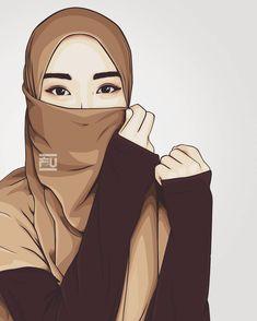 Hijab is so beautiful Hijab Niqab, Muslim Hijab, Islam Muslim, Girl Cartoon, Cartoon Art, Best Facebook Profile Picture, Hijab Quotes, Hijab Drawing, Islamic Cartoon