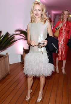 love this feathered look: Naomi Watts at #Cannes