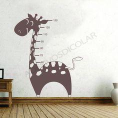 Adesivo para Parede Régua Infantil Girafa - Adesivos Dicolar