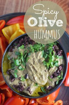 Spicy Olive Hummus  – It is an incredibly easy healthy recipe that I am sure you will love.