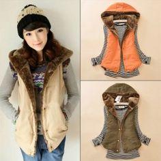 60fd9ef9227 2017 Women Spring   Autumn Waistcoats Length Jacket Hooded Thick Cotton Coat  Warm Velvet Sleeveless Vests