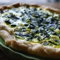 Broccoli Raab and Green Garlic Quiche from Rural Intelligence