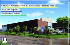 Sobre ruta nacional A005 y W. tejerina, Río Cuarto. 40x17m ladrillo visto, techo de chapa, 2 portones, trifásica, alarma, oficinas con baño y kitchenette