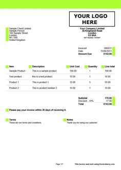 Invoice Template For A Successful Business Pinterest Template - Online invoice format