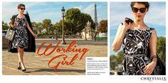 ✽ NOUVELLE COLLECTION CHRYSTALIX PARIS ✽ // PARIS // PLACE DE LA CONCORDE // Robe trapèze en soie / coton avec motifs géométriques Noir / Blanc. Coupée à la taille. Ceinture en cuir & porte-documents en cuir / Modèle Anais / Make up Laurène / Photos Fred Braustein #paris   #fashion  #mode